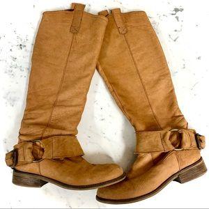 STEVE MADDEN Bankker Camel Leather Suede Boots - 7